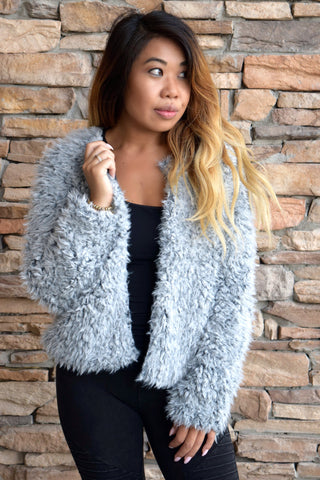 ALL FUR THE GLORY GREY COAT