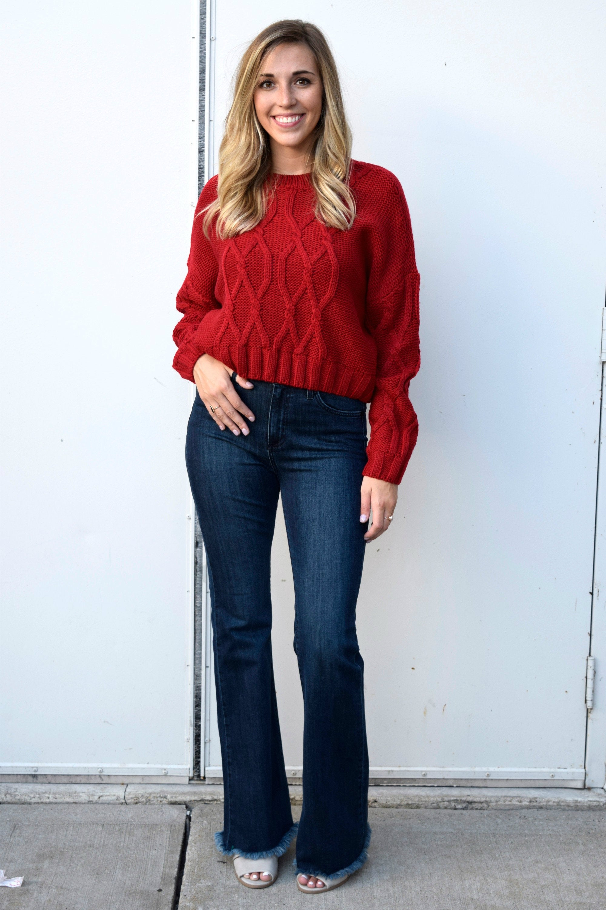 c74260ef795 ON FIRE RED SWEATER – Apricot Lane Boutique - Des Moines