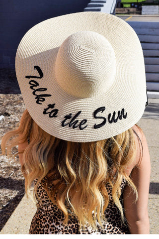 TALK TO THE SUN IVORY HAT