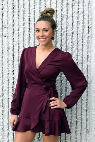 LIKE FINE WINE WRAP DRESS
