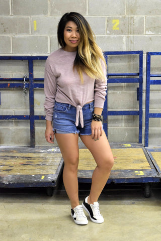 BETTER WITH TIME DENIM SHORTS