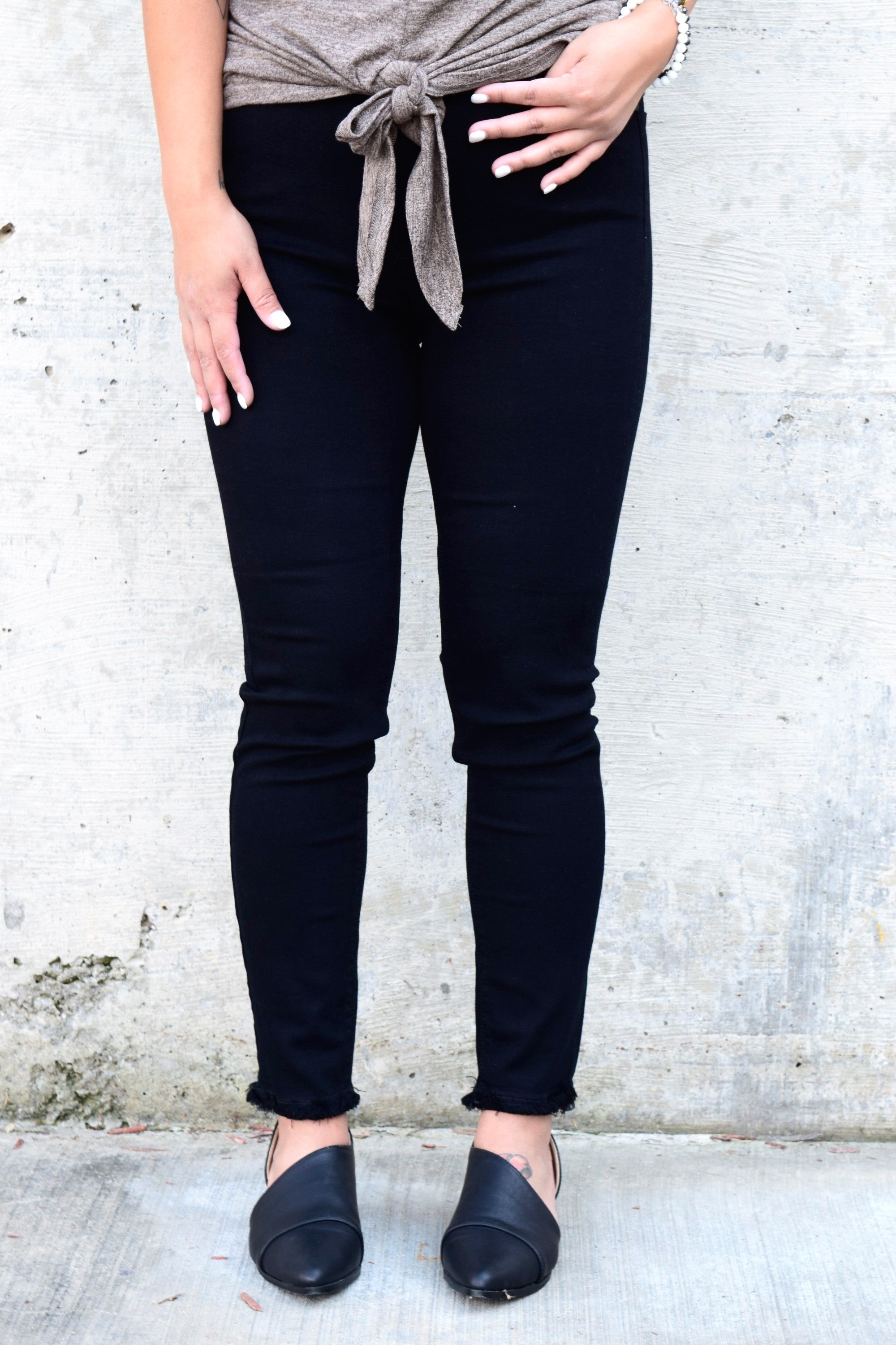 ARE YOU UP TO IT BLACK HIGH RISE DENIM