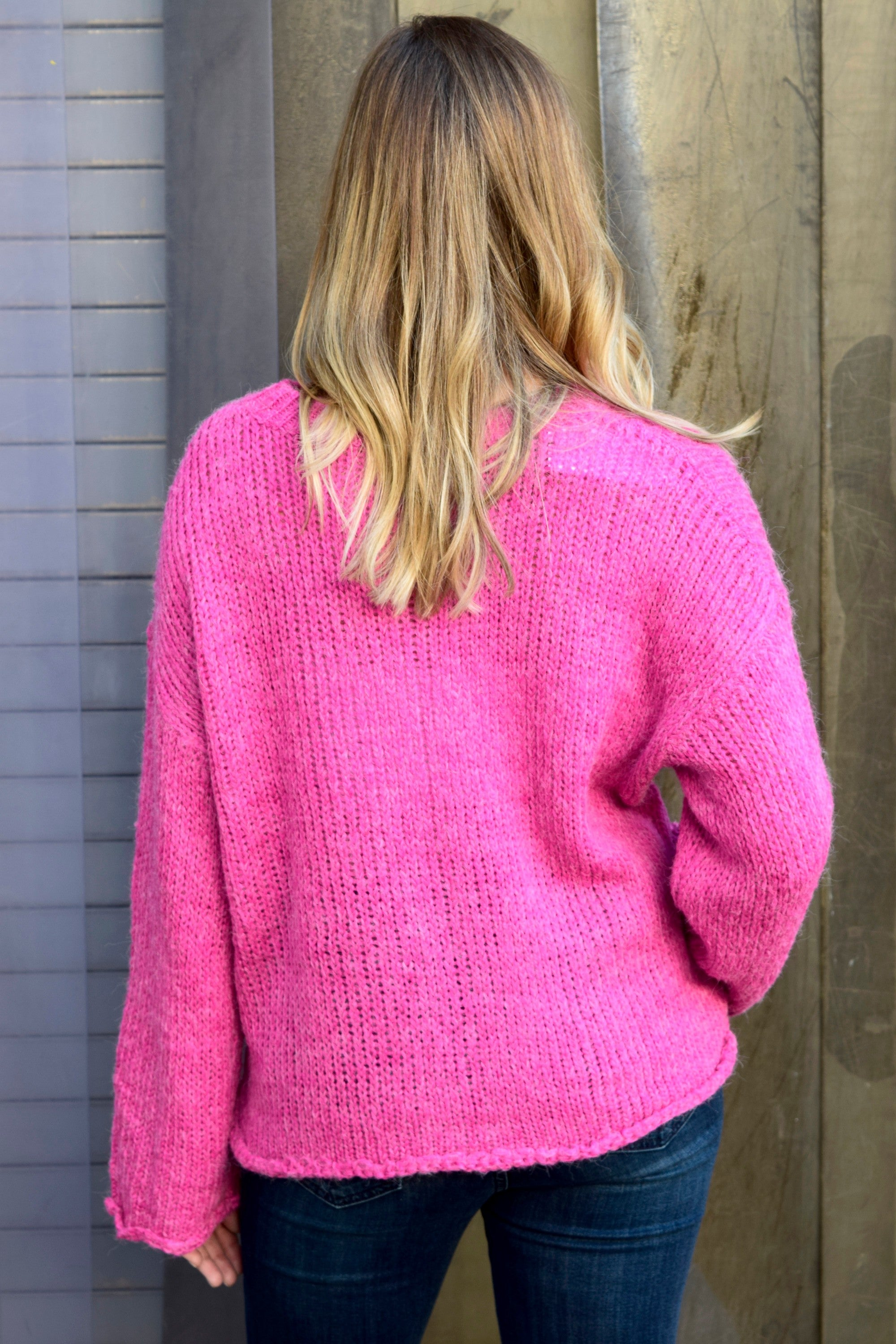 COME AND GET IT PINK SWEATER