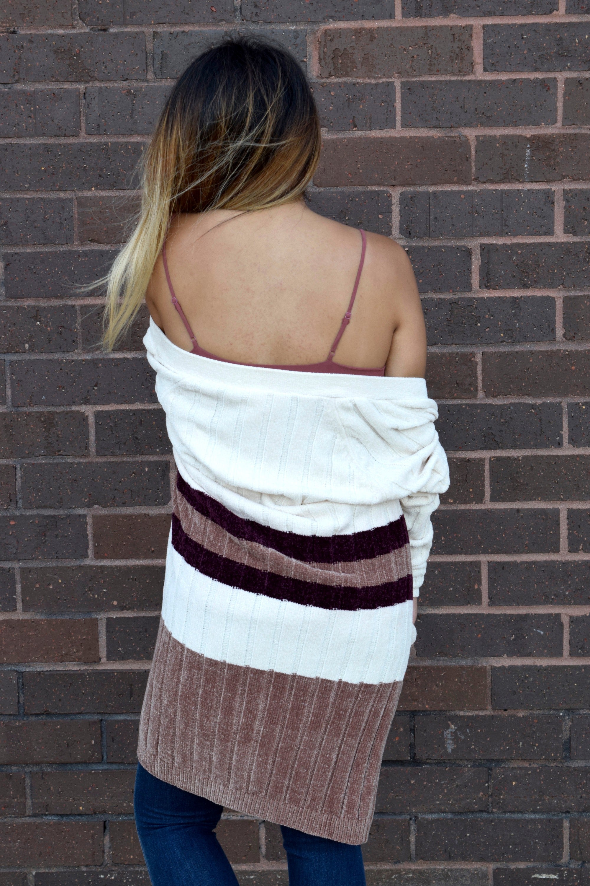 FALLIN' FOR YOU IVORY CHENILLE CARDIGAN