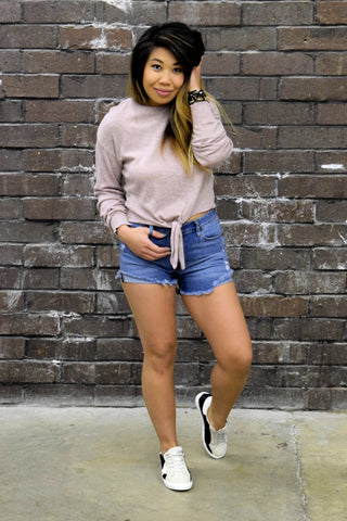 ALL ABOUT IT MAUVE SWEATER