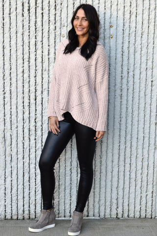 BLUSHING BEAUTY CHENILLE SWEATER