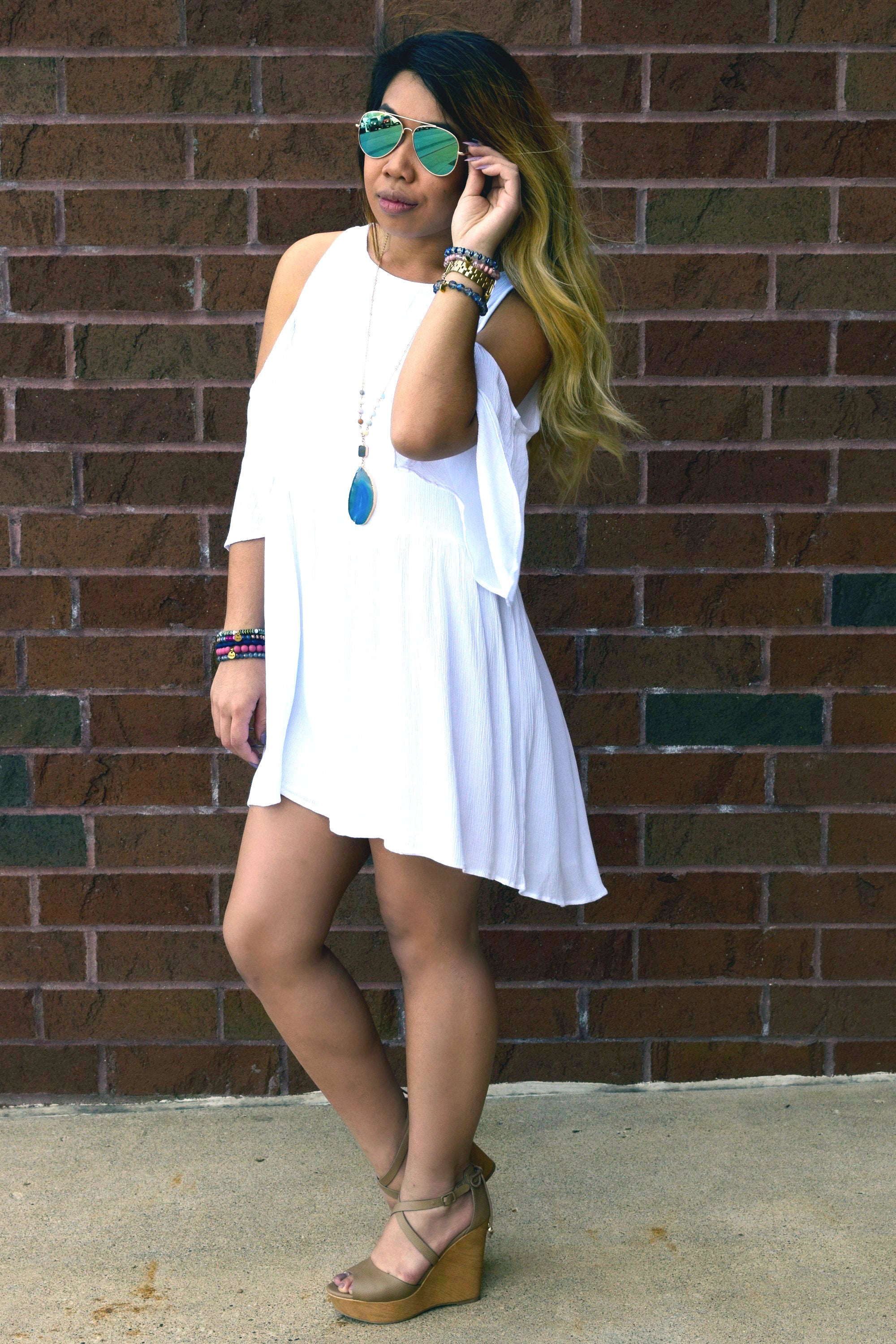 HERE FOR THE SUMMER WHITE DRESS