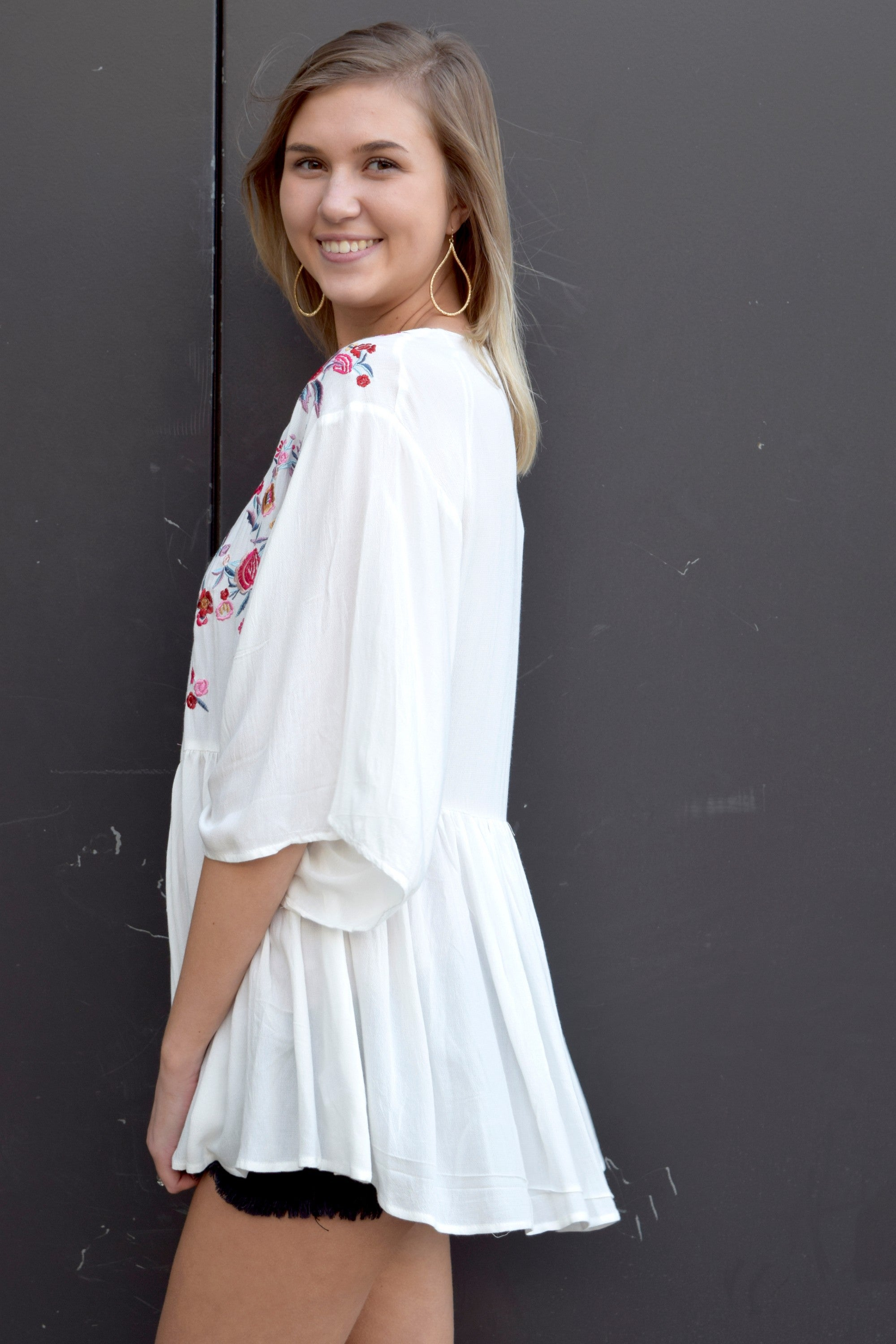 A DAY WITH YOU PASTEL EMBROIDERED KIMONO