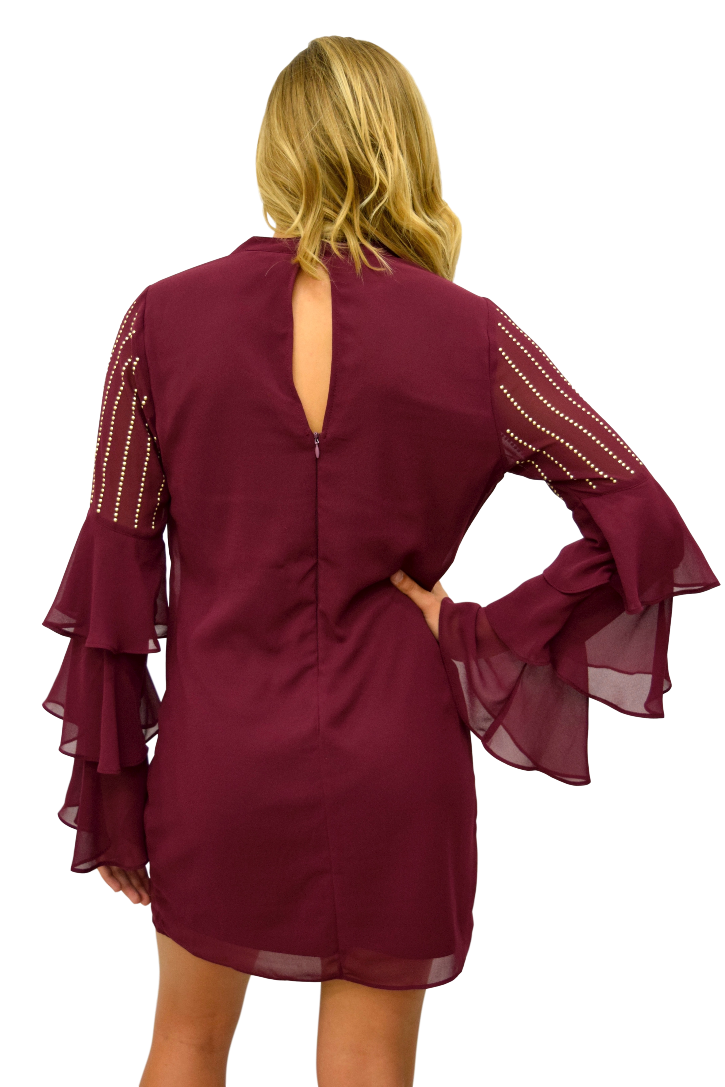 TIERS OF JOY DEEP BERRY DRESS