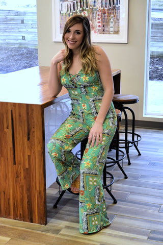 LUCKY CHARM GREEN JUMPSUIT