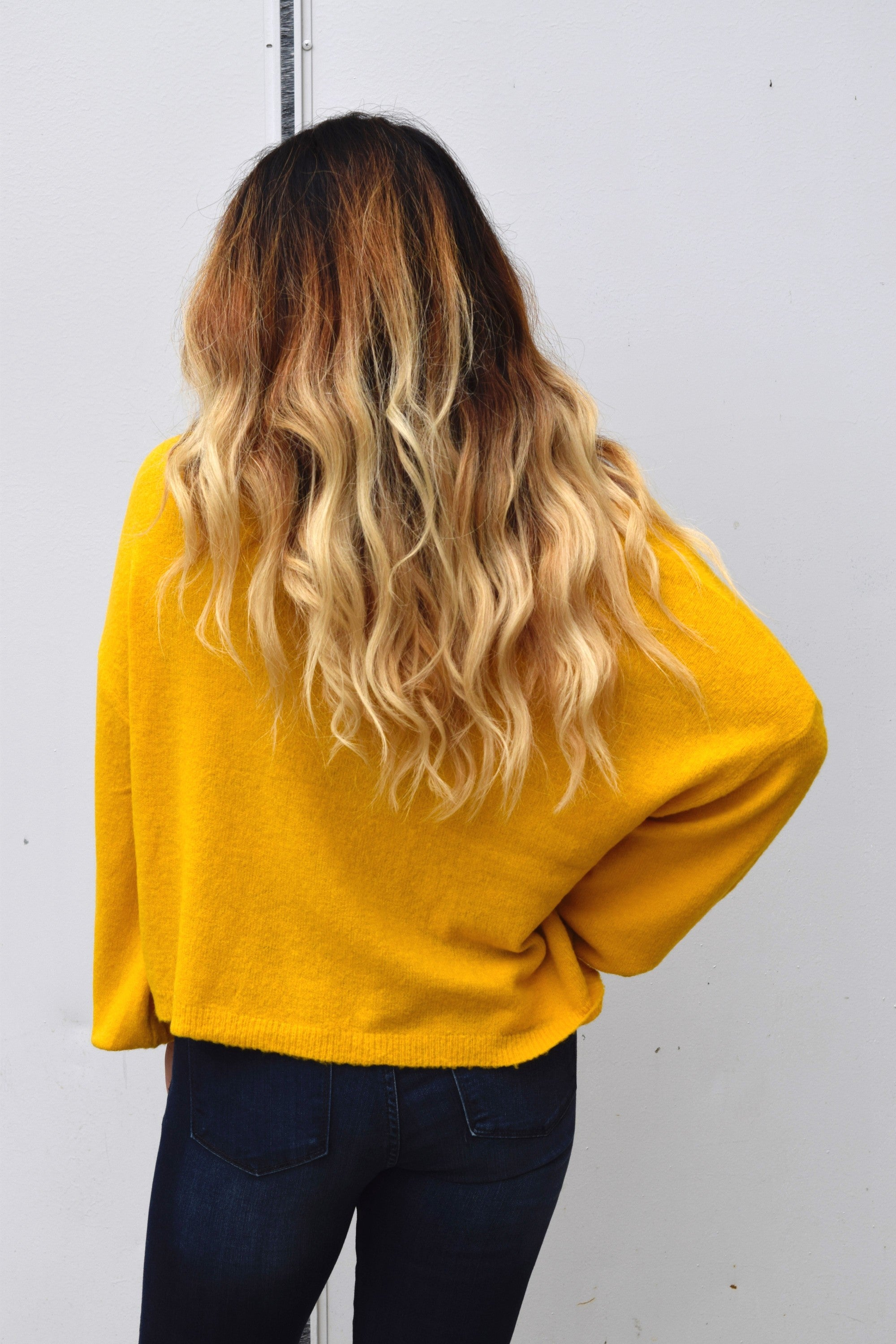 BE MY SUNSHINE MUSTARD SWEATER