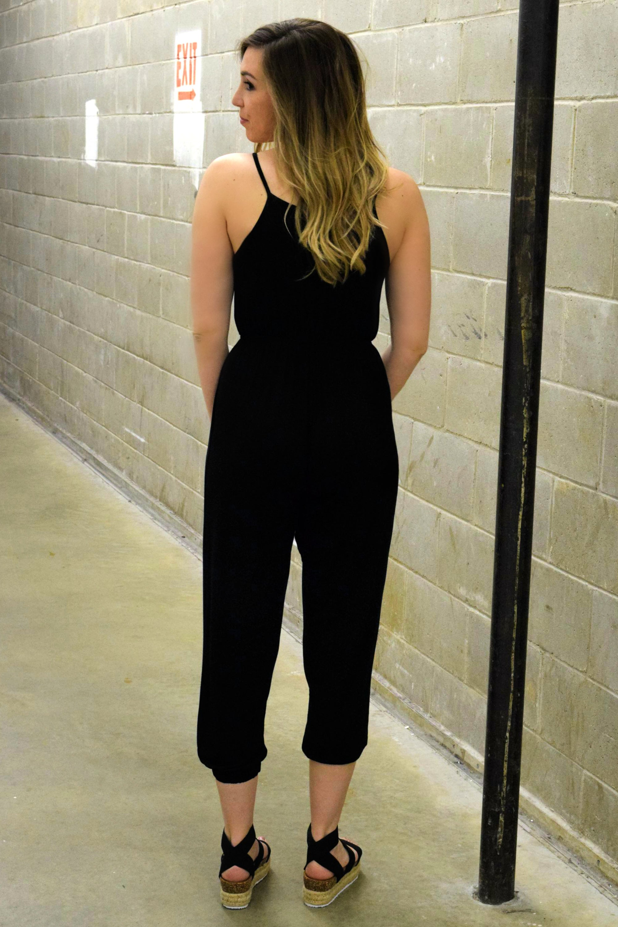 JUMP AROUND BLACK JUMPSUIT