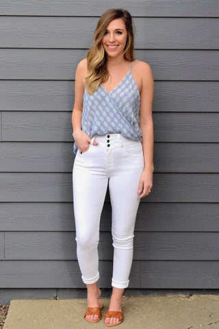 LABOR DAY WHITE SKINNY DENIM
