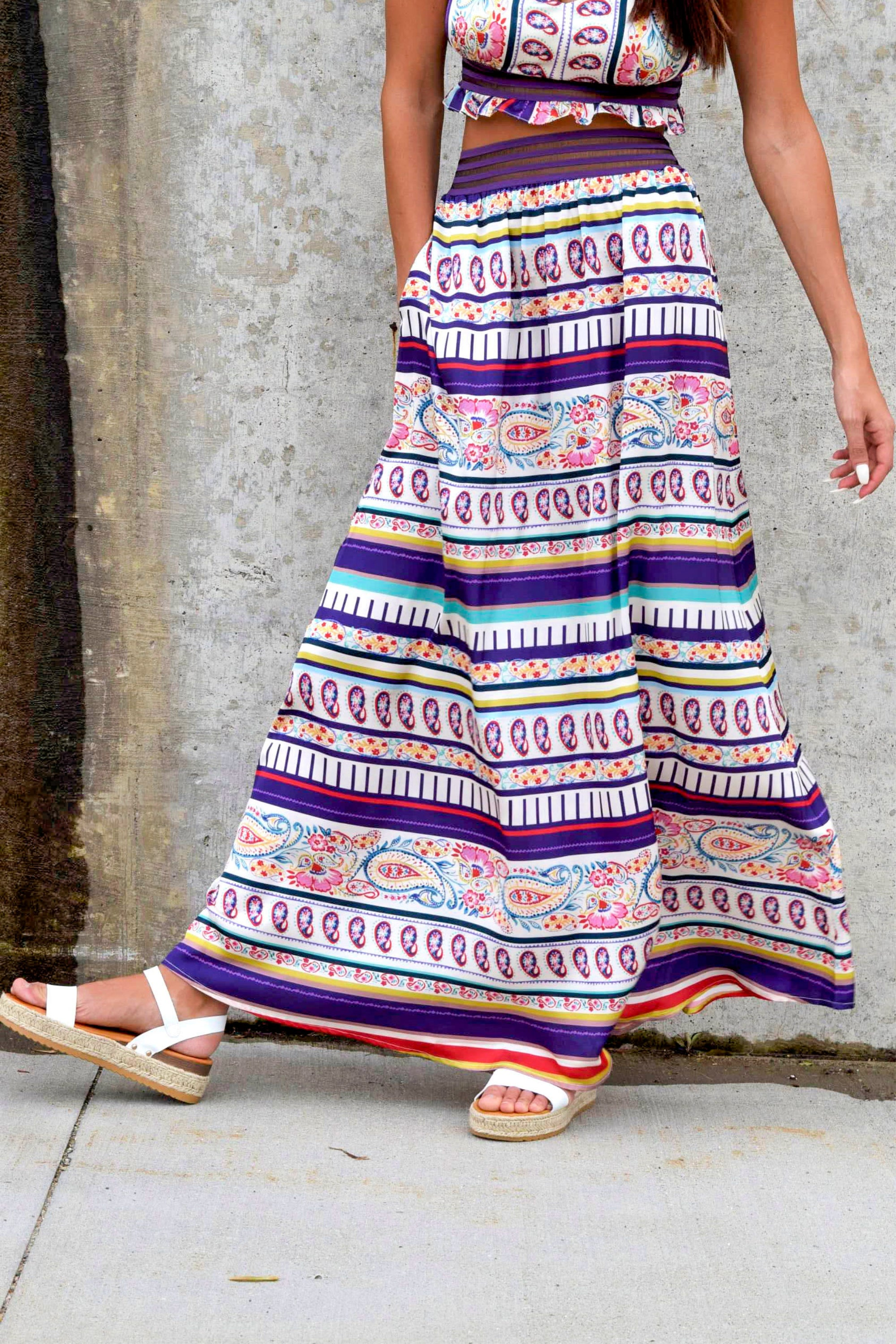 BOLD IN BOHO SKIRT