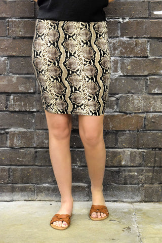ANIMAL INSTINCTS SNAKESKIN SKIRT