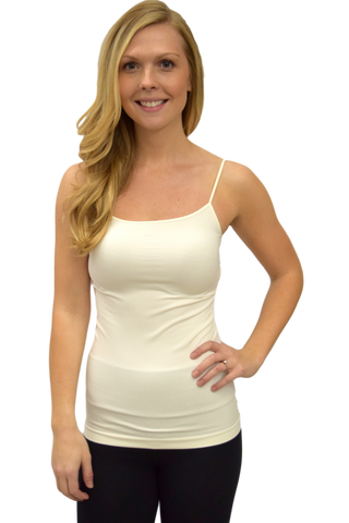 BASIC LONG CAMI: IVORY