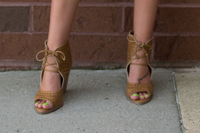 ALL ABOUT THAT DETAIL COGNAC WEDGES