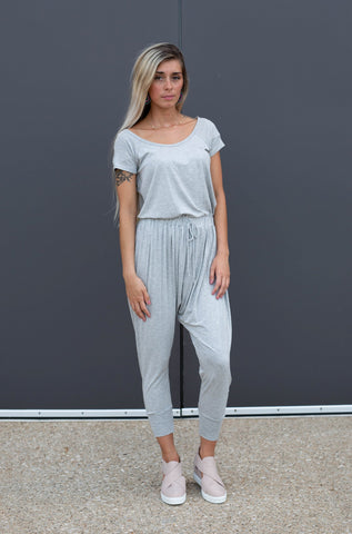 MY COMFORT ZONE GREY JUMPSUIT
