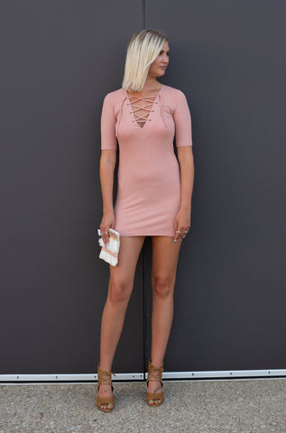 TAKE ME THERE PINK BODYCON DRESS