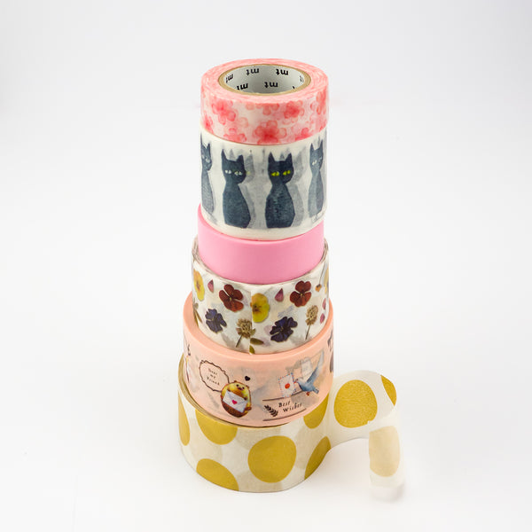 rolls of MT washi tape stacked