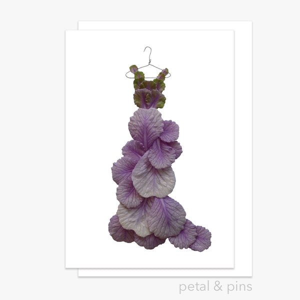 anniversary gown greeting card by petal & pins