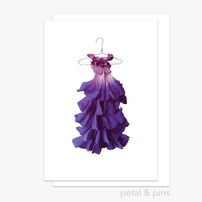 morning glory dress greeting card by petal & pins
