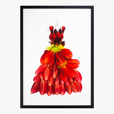 dahlia dress art print by petal & pins