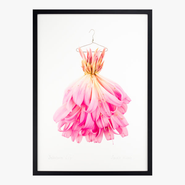 belladonna lily dress art print by petal & pins
