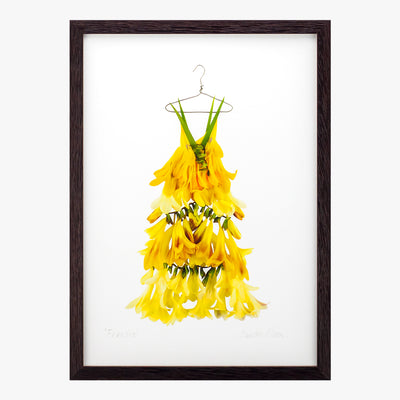 freesia dress art print by petal & pins