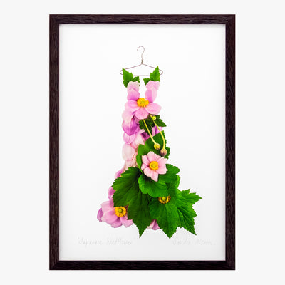 Japanese windflower dress art print by petal & pins
