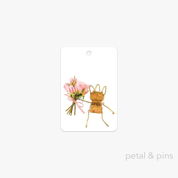 let's celebrate gift tag by petal & pins