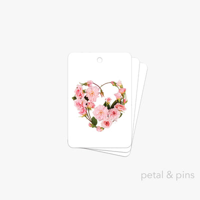 my heart's abloom gift tag pack of 3 by petal & pins