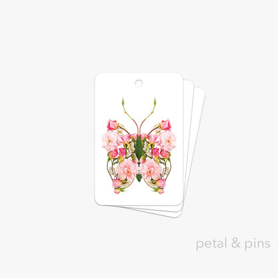 butterfly pearls gift tag pack of 3 by petal & pins