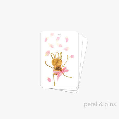 petal confetti gift tag pack of 3 by petal & pins