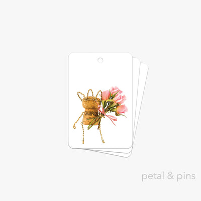 best wishes gift tag pack of 3 by petal & pins