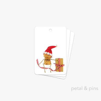 naughty and nice gift tag pack of 3 by petal & pins