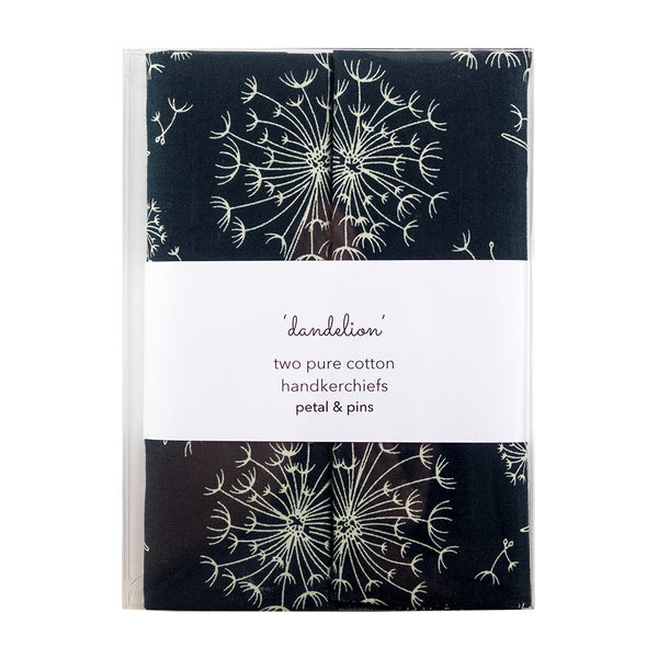 dandelion handkerchiefs - box set of two - extra large
