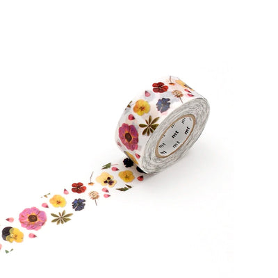 washi tape - pressed flower - mt for pack