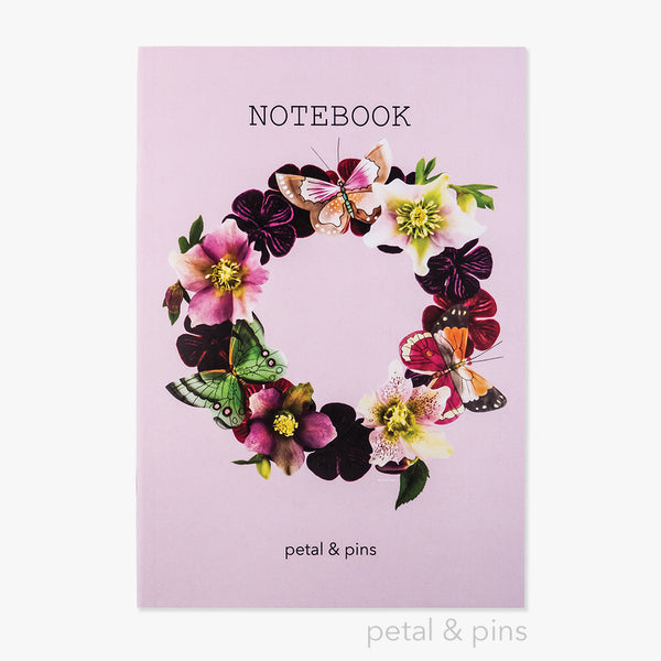 butterfly garland notebook - rosewater - by petal & pins