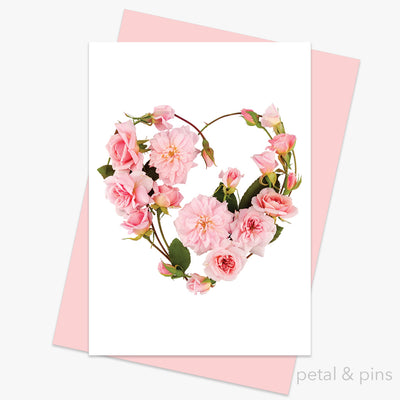 my heart's abloom card from the love letters collection by petal & pins