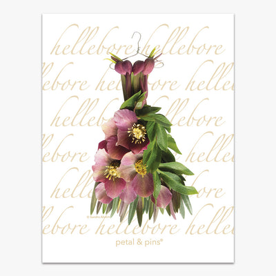 crimson hellebore dress tea towel by petal & pins