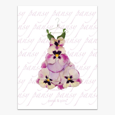 pansy dress tea towel by petal & pins