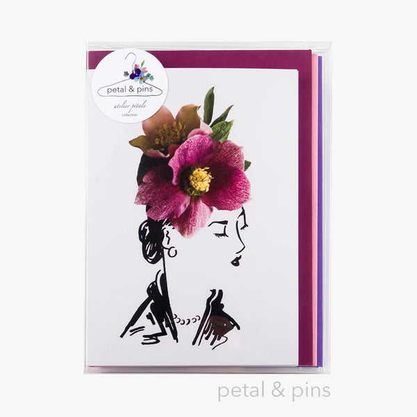 atelier pétale card gift box set by petal & pins