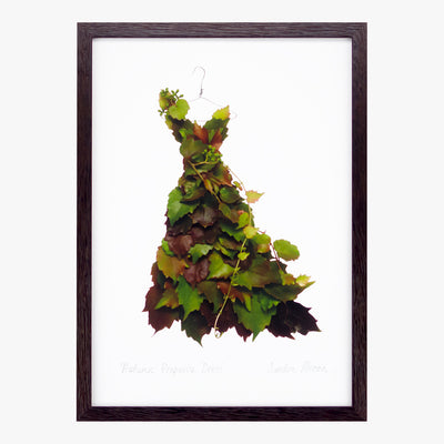 autumn vine dress art print by petal & pins