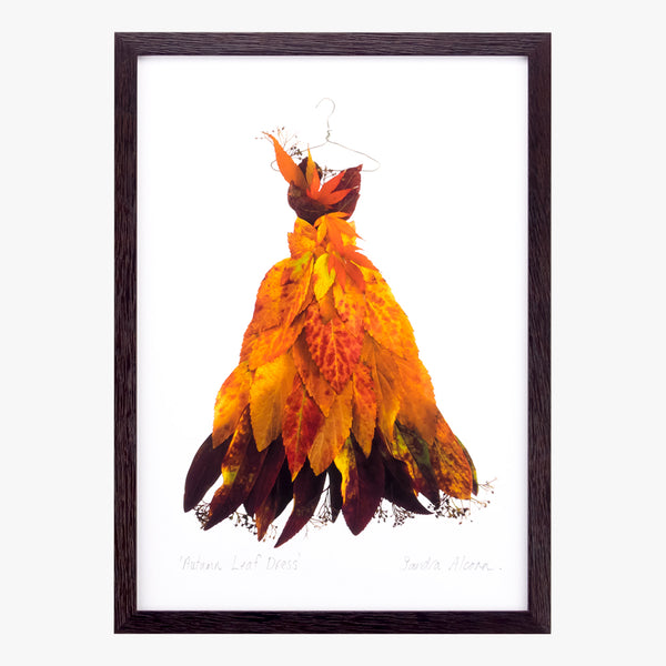 autumn leaf dress art print by petal & pins