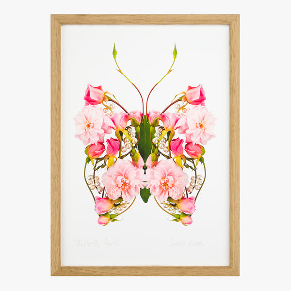 butterfly pearls art print from the love letters collection by petal & pins