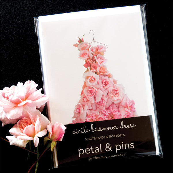 cécile brünner rose dress card set by petal & pins