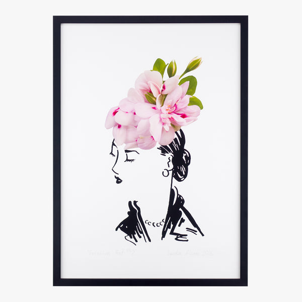 geranium hat two art print by petal & pins