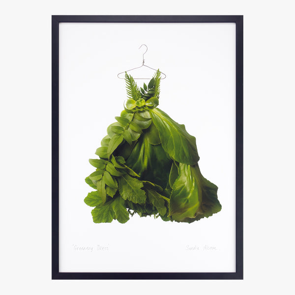 greenery dress art print by petal & pins