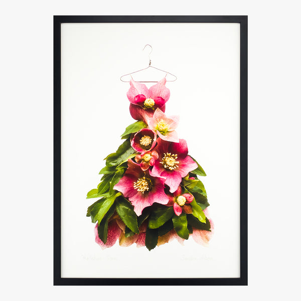 hellebore gown giclée art print from the garden fairy's wardrobe by petal & pins